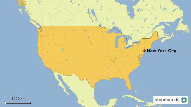 Amerika Karte New York.Usa Karte New York Creactie