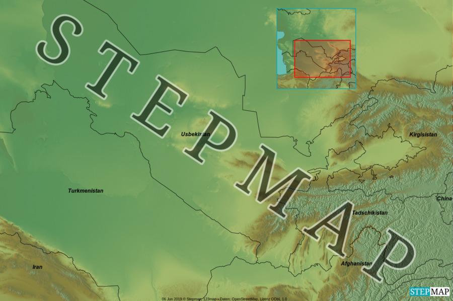 Landkarte: Usbekistan