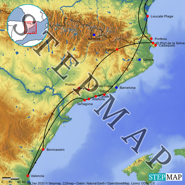Landkarte: Valencia