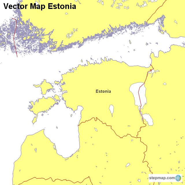 Vector Map Estonia von countrymap - Landkarte für Estland