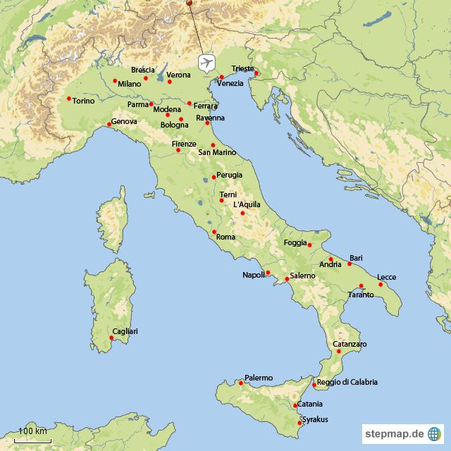 italien karte venedig ile ilgili görsel sonucu