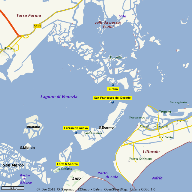 Venedig Karte.Stepmap Venedig Landkarte Fur Welt