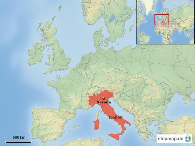 verona italien karte Italien Landkarte Verona   Kleve Landkarte