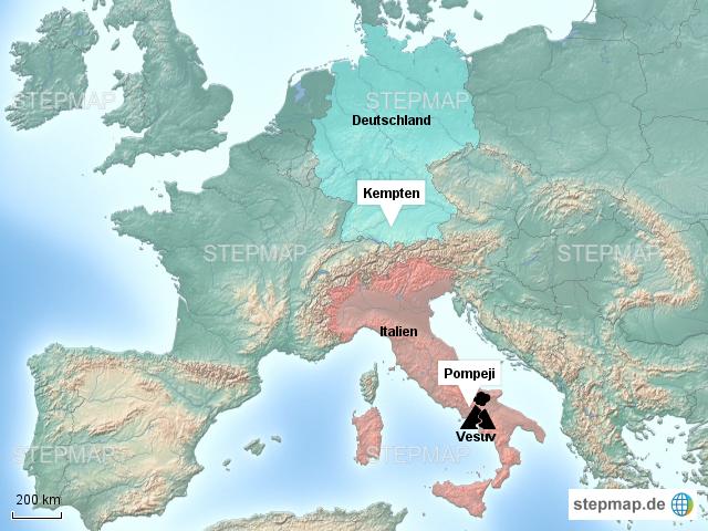 vesuv karte Vesuv von Tool   Landkarte für Deutschland