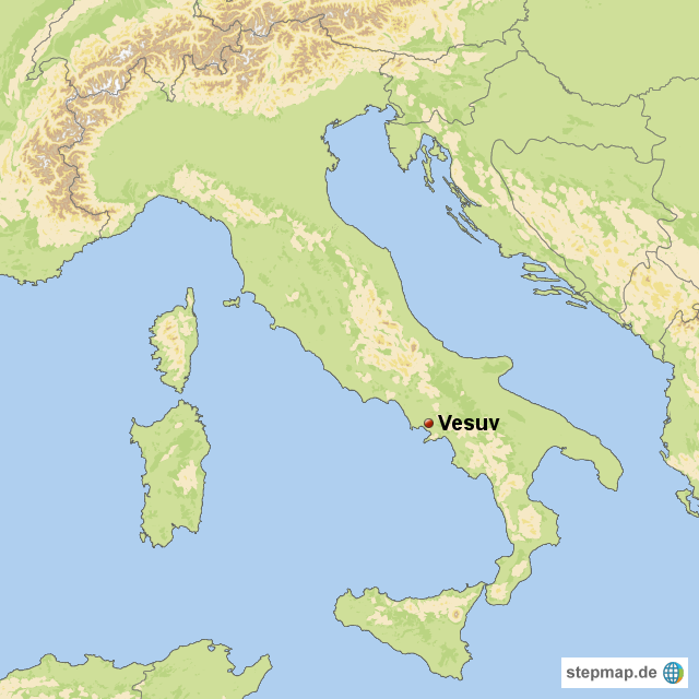 vesuv karte Vesuv Karte Italien   Kleve Landkarte