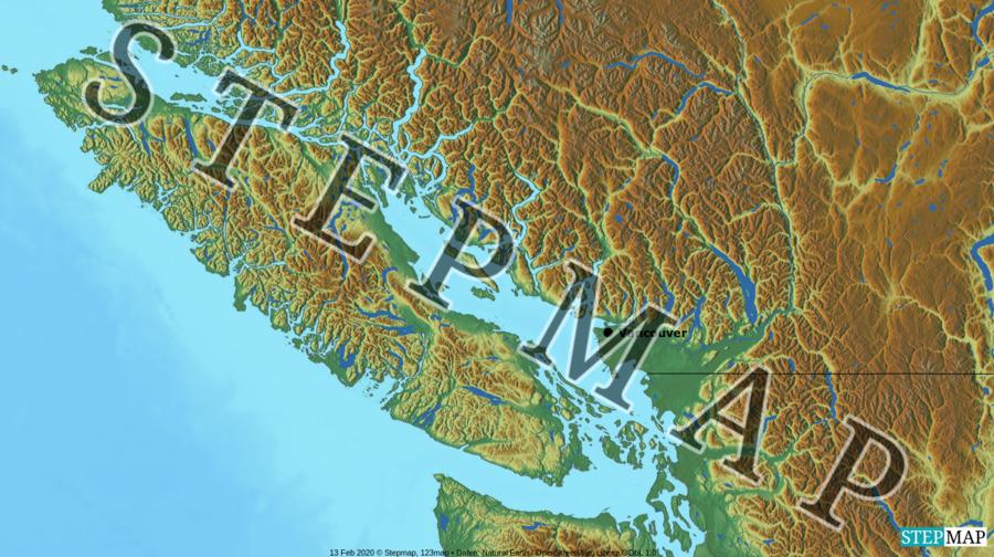 Landkarte: Victorial Island British Columbia Canada