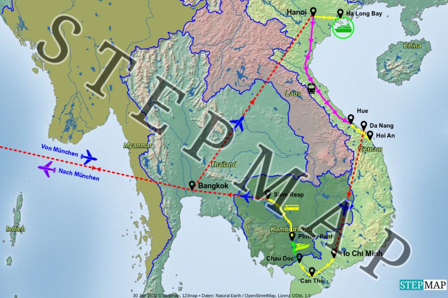 Landkarte: Vietnam-Cambodia