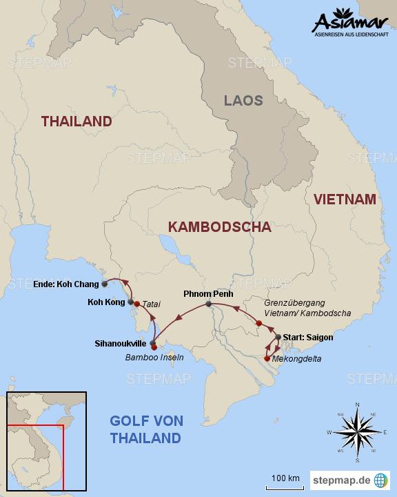 vietnam kambodscha thailand rundreise von vietnam ueber. Black Bedroom Furniture Sets. Home Design Ideas