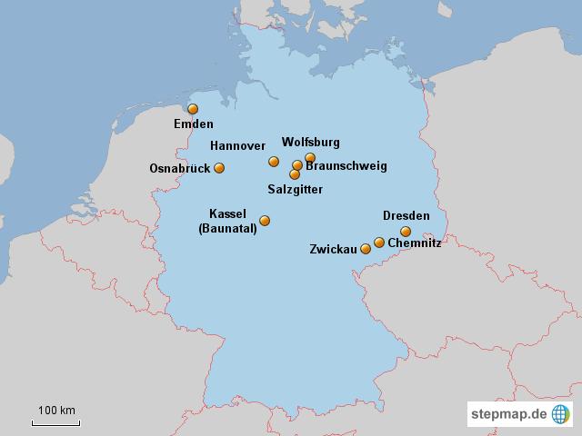 Volkswagen Standorte Deutschland Von Lala90 Landkarte