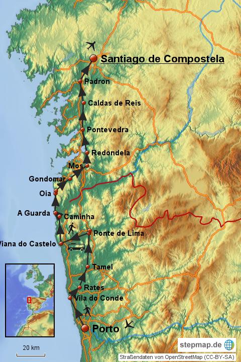 Briefe Nach Spanien Porto : Von porto nach santiago de compostela connyronny