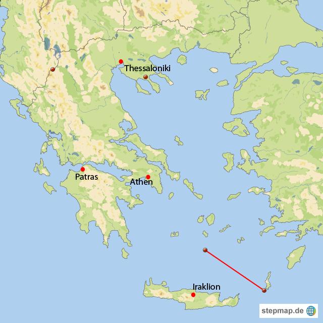 santorini karte griechenland Von Santorin bis Karpathos von IriniZ   Landkarte für Griechenland