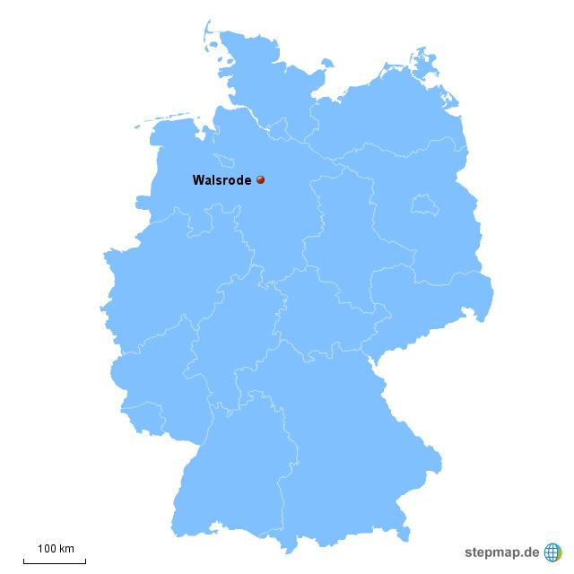 Walsrode Von Kochspet Landkarte Fur Deutschland