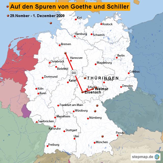 weimar karte deutschland Weimar von erfurt   Landkarte für Deutschland alle Bundesländer