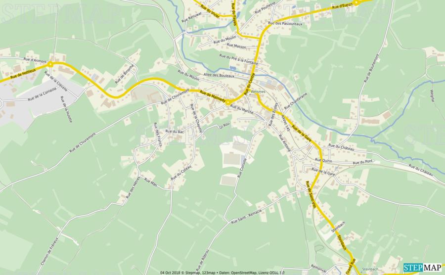 Landkarte: Weismes NEU