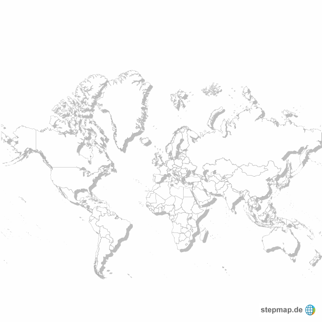 Weltkarte blanko von les - Landkarte für die Welt