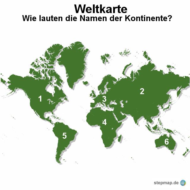 Weltkarte mit kontinenten von occi landkarte f r die welt for Weltkarte mit fotos
