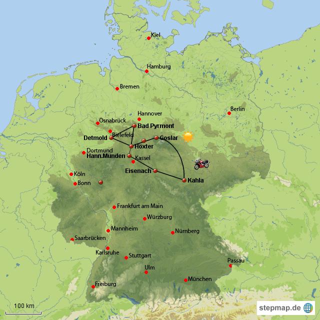 weserbergland karte Weserbergland von Norbet   Landkarte für Westdeutschland