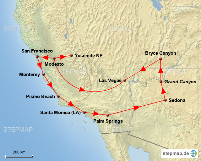 westküste usa karte Westküste USA von Frikassee601   Landkarte für Nordamerika