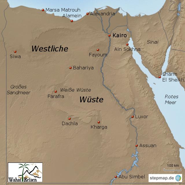 Westliche W Ste Gypten Von Wahat Reisen Landkarte F R