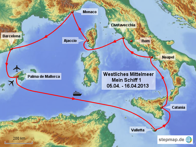 Stepmap Westliches Mittelmeer Landkarte Fur Spanien