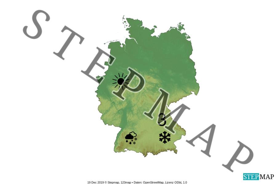 Landkarte: Wetter Deutschland
