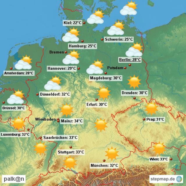 wetter karte Wetterkarte für Deutschland von Palkan   Landkarte für Deutschland