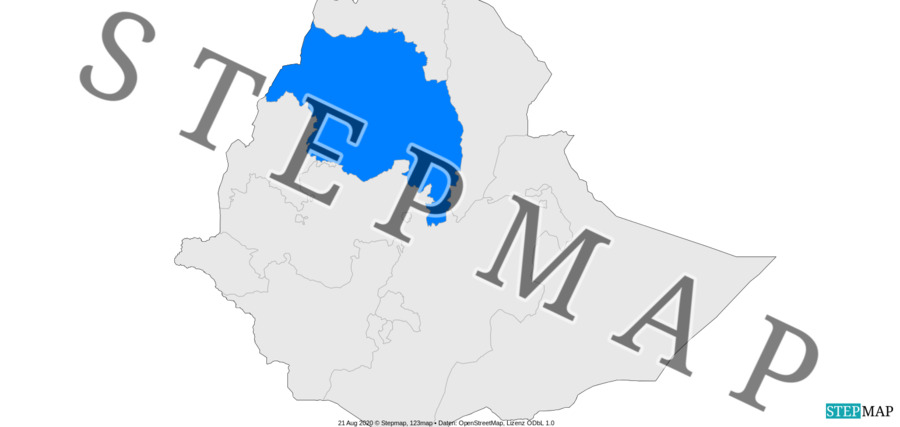 Landkarte: Where we work - Ethiopia