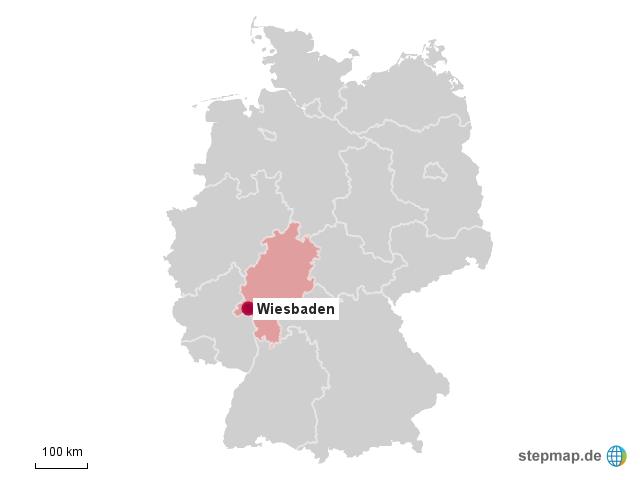 Wiesbaden Karte.Stepmap Wiesbaden Landkarte Für Deutschland