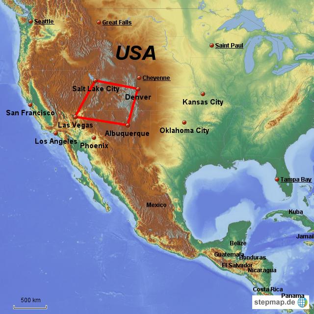 wilder westen von ruddi landkarte f r nordamerika. Black Bedroom Furniture Sets. Home Design Ideas