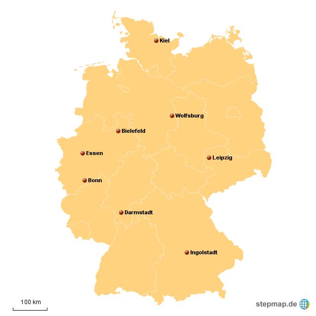 wo liegt was von deinis landkarte f r deutschland. Black Bedroom Furniture Sets. Home Design Ideas