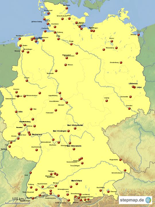 karte wohnmobilstellplätze deutschland wohnmobilstellplätze Deutschland von hondabali311   Landkarte für