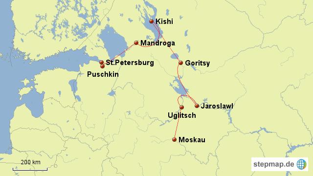 StepMap - Wolga - Landkarte für Russland