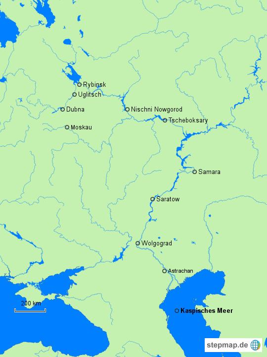 StepMap - wolga - Landkarte für Deutschland