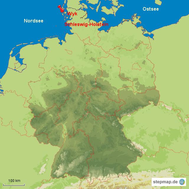 föhr karte Wyk auf Föhr von Palkan   Landkarte für Deutschland alle Bundesländer