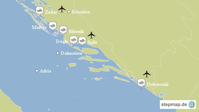 yachtcharter split kroatien von janiscasa landkarte f r kroatien. Black Bedroom Furniture Sets. Home Design Ideas