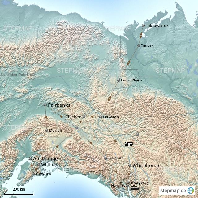 Yukon & Alaska 2018 von andrea_hagenbach - Landkarte für ...