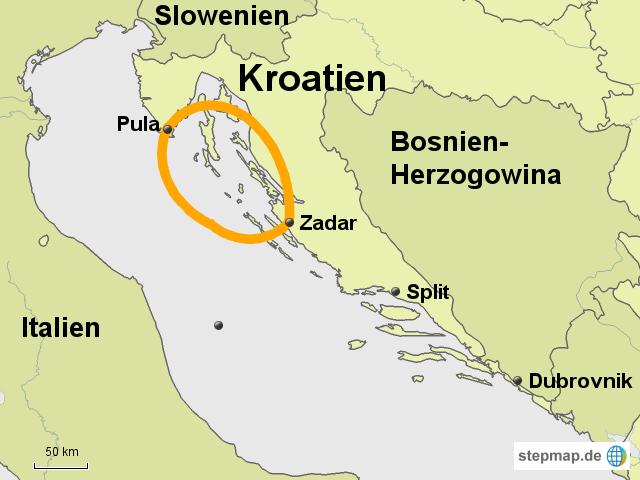Karte Kroatien Pula.Zadar Pula Von Whorn Landkarte Für Deutschland