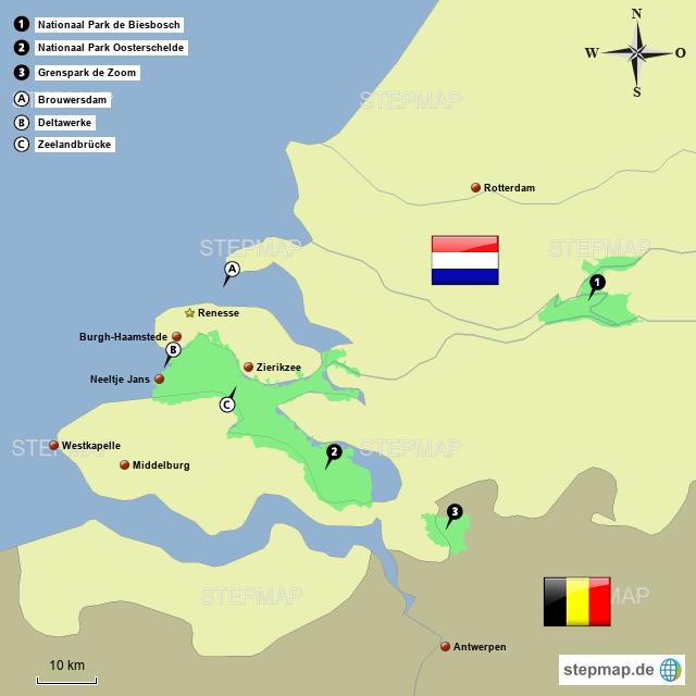 Zeeland Karte Niederlande.Zeeland Von Oggy04 Landkarte Für Die Niederlande